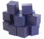 0.5kg. Dark Blue Beeswax for Candlemaking and Crafts