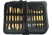 ClayEase-14 piece clay modelling tool set with case