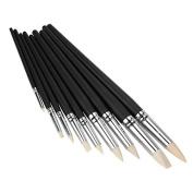 Sculpting Tools Black Wood Shank Clay Shaper 16-30cm Length Set of 9