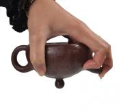 Chinese Yixing Purple Clay Handmade Half Moon Tea Pot Zisha Zi Ni Teapot 240cc
