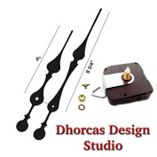 Dhorcas Quartz Clock Movement Kit for Replacement, 0.6cm Threaded Motor and Long 23cm Hands with Hanger