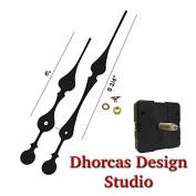 Dhorcas Quartz Clock Movement Kit for Replacement, 1.3cm Threaded Motor and Long 23cm Hands