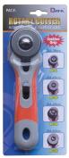 Dafa 45 mm Safeguard Sof Grip Rotary Cutter, Multi-Colour
