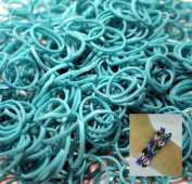 BlueDot Trading 6000-Piece Teal Rubber Band Kids Craft with Rainbow Do it Yourself Bracelet Kit Refill Pack