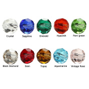 BRCbeads Crystal Glass Beads Finding Spacer Charms 500pcs Faceted #5000 Round Shape 6mm Assorted Colours include Plastic Jewellery Container Box Wholesale Mix lot for jewelery making