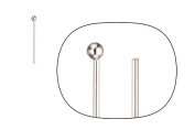 21Ga Platinum-Finished Ball Pin 0.6Inch with 2mm Ball sold per pack of 30