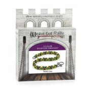 Weave Got Maille 3-Colour Byzantine Chain Maille Bracelet Kit, Mardi Gras