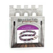 Weave Got Maille 3-Colour Byzantine Chain Maille Bracelet Kit, Magic Carpet Ride