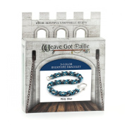 Weave Got Maille 3-Colour Byzantine Chain Maille Bracelet Kit, Misty Blue
