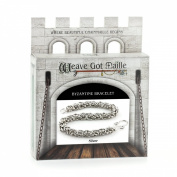 Weave Got Maille Byzantine Chain Maille Bracelet Kit, Classic Silver