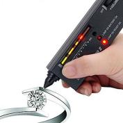 Lycheers Jeweller Diamond Tool Kit Portable Pen Hardness Identification Mini Tester Black