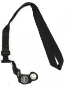 BelOMO 10x Triplet Loupe Folding Magnifier with attached plain black nylon lanyard with quick release buckle