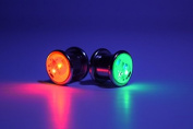 Pair LED Light up Ear Gauge Plug - Size