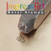 ImpressArt, Metal Jewellery Design Stamp, Butterfly Swirl 2, 6mm
