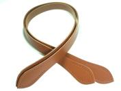 N301 68cm Tan Embossed Bronze Ring Purse Handles