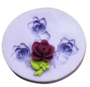 Lovely Rose Silicone Resin Clay Moulds Handmade Resin Mould Polymer Clay Mould