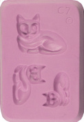 """Fleximold Silicon Mould, """"Resting Cat"""" Mould"""