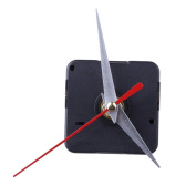 FACILLA® Clock Movement Mechanism Silver Hour Minute Red Second Hand DIY Tools Kit