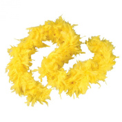 Yellow 1.8m 60 Gramme Feather Boas