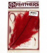 Zucker Feather Products Red Dyed Ostrich Drab Feathers, 9 to 30cm