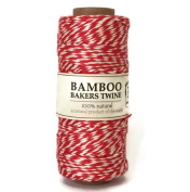 Hemptique Bamboo Bakers Twine Red/White