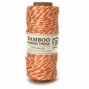 Hemptique Bamboo Bakers Twine Neon Orange/White