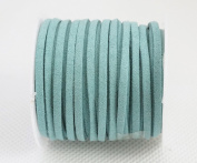 PALE BLUE 3mm x 1.5mm Faux Suede Cord Lace Bracelet Craft Jewellery Making, 5yds Mini Spool