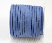 CORNFLOWER BLUE 3mm x 1.5mm Faux Suede Cord Lace Bracelet Craft Jewellery Making, 5yds Mini Spool