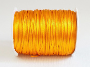 GOLDEN YELLOW 1mm Bugtail Satin Cord Shamballa Macrame Beading Nylon Kumihimo String