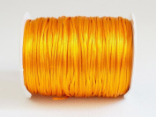 GOLDEN YELLOW 1mm Bugtail Satin Cord Shamballa Macrame Beading Nylon Kumihimo String