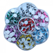 DECORA 470 Pieces 8mm Mixed Colours Wiggly Googly Eyes With Eyelash DIY Scrapbooking Crafts Toy Accessories