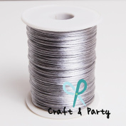 Silver 2mm x 100 yards Rattail Satin Nylon Trim Cord Chinese Knot