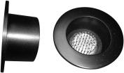 JWL Kenzan Ikebana Black Water Holding Flower Arranger Pin Frog 7.6cm Lip Cup Fits 5.1cm Hole - (2) Included