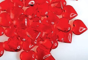 160 Translucent Red Acrylic Hearts for Vase Fillers, Table Scatter, or Decoration - Valentines Day or Wedding