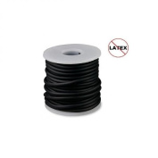Round Rubber Cord Black 3mm 10 metres / 10.9 Yards.