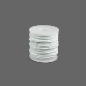 Round Rubber Cord White 3mm 10 metres / 10.9 Yards.