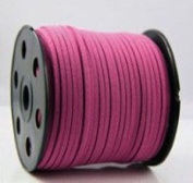 Hot Pink Faux Leather Suede Necklace Bracelet Lace Cord Ultra Microfiber Hand Knitted Strap