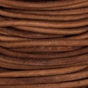 Natural Dye Light Brown Round Leather Cord 4mm x 5m BEST VALUE!