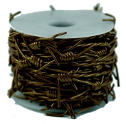 Leather Cord Barbed Wire, 10 Metre Spool, Metallic Bronze