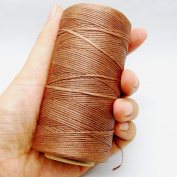 284yrd deep khaki Leather Sewing Waxed Thread 150D 1mm Leather Hand Stitching 125g