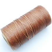 284yrd brown Leather Sewing Waxed Thread 150D 1mm Leather Hand Stitching 125g