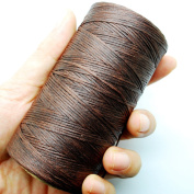 284yrd coffee brown Leather Sewing Waxed Thread 150D 1mm Leather Hand Stitching 125g