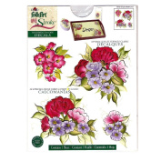 Plaid FolkArt One Stroke Handpainted Look Decals Chrysanthemums