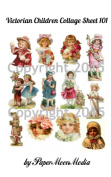 Victorian Children 101 Collage Sheet