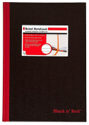 Black n' Red Hardcover Executive Notebook, 30cm x 21cm , Black, 96 sheets/192 pages
