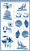 Armour Etch Stencil Rub N Etch Stencil, Sea Shore, 13cm by 20cm