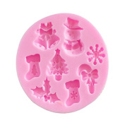 Christmas Tree Snowman Sock Ring Bell Snowflake Shape 3d DIY Silicone Mould Cake Decorating Mould Chocolate Candy Making Mould Tools Clay Sculpture Shaping Mould Tools
