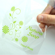 Cello Gift Bags Soap Gift Bags Green Natural Soap Bags 11.5cmx11.5cm+4cm 50sheet