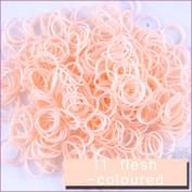 3600 PCS 144 Clips Bands Refills for Loom Rainbow Bracelet Dress Making Skin Tone - Flesh Coloured