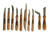 Two Cherries 515-3310 Chip Carving Knives - 10 Piece Set